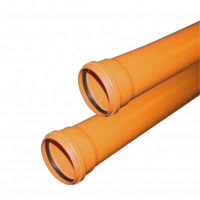 Труба ф110 с раструбом L=6 м рыжая (10) VALFEX